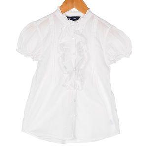 Ralph Lauren ruffles button shirt